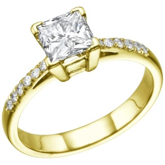 Nhẫn nữ đá kim cương nhân tạo mạ vàng 14k - NNU021