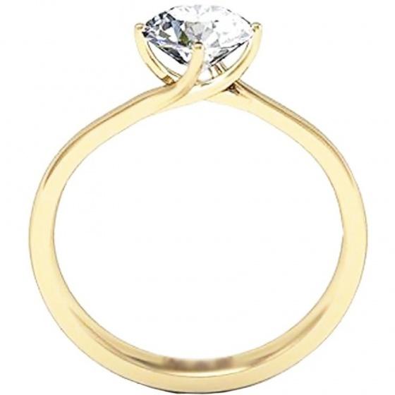 Nhẫn nữ bạc mạ vàng 14k - NNU51