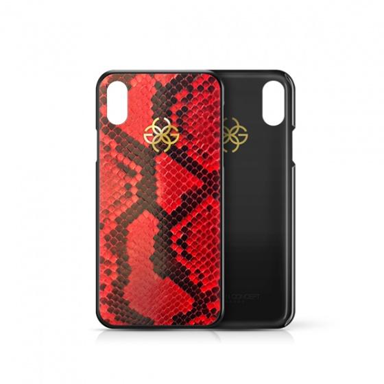 Ốp điện thoại iphone Xs Max da trăn đỏ