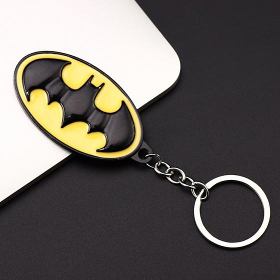 Móc khóa đồ chơi mô hình huy hiệu người dơi batman keychain AVBY