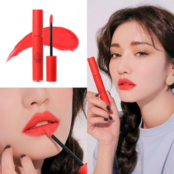 Son 3ce Velvet Lip Tint Màu Childlike đỏ Freesize Shop