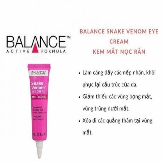 Kem dưỡng mắt nọc rắn Balance Active Formula Snake Venom Eye Cream 15ml