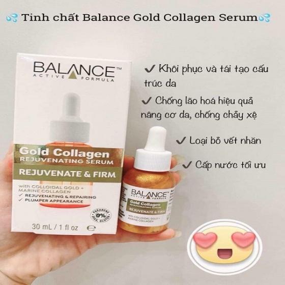 Tinh chất tái tạo da chống lão hóa Balance Gold Collagen Rejuvenating Serum (30ml)