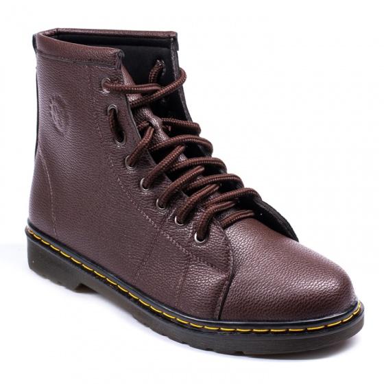 Giày boot nam cao cổ khâu đế màu nâu cực chất - m91