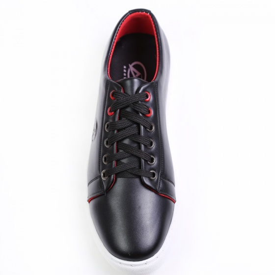 Giày thể thao nam buộc dây aroti da trơn màu đen đế khâu chắc chắn - m510-den