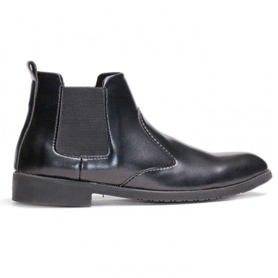 Giày chelsea boot nam cổ chun da nhám màu đen đế khâu rất chắc chắn - CB520-Nhám