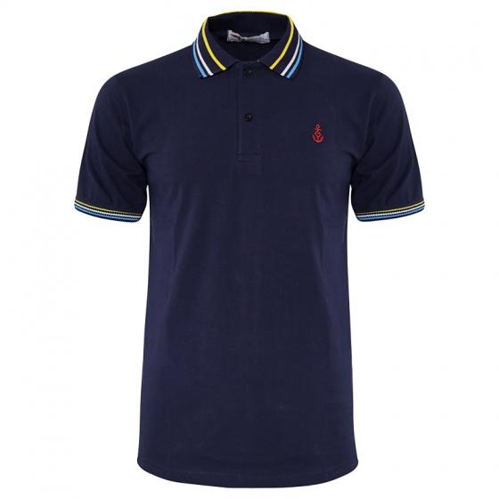 Bộ 3 áo thun nam polo bo dệt chất thoáng mát Pigofashion AHT15 Đốm vịt, trắng, xanh đen