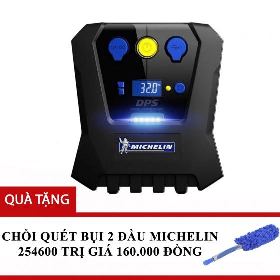 Máy bơm lốp 12V Michelin 12266 tặng chổi quét bụi 2 đầu Michelin 254600