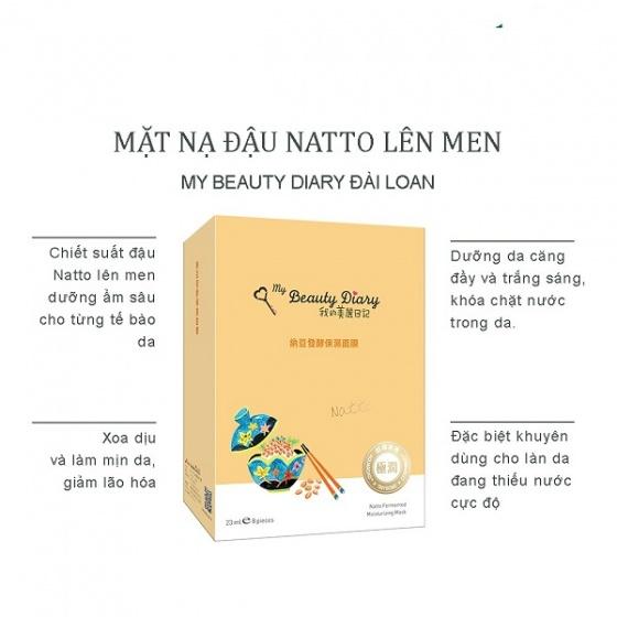 Image result for Mặt Nạ Dưỡng Ẩm Đậu Natto Fermented Moisturizing Mask