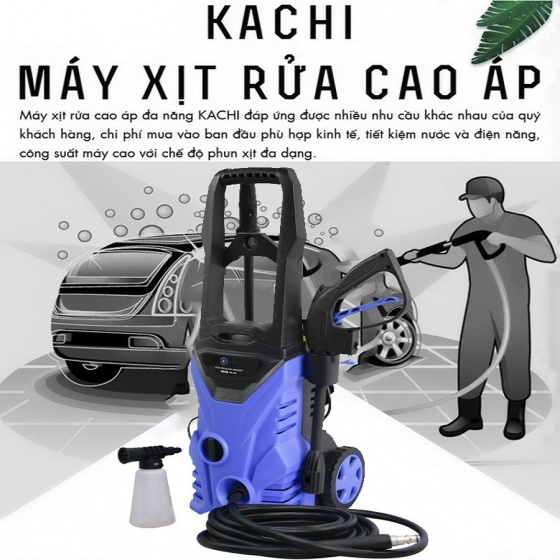 Máy xịt rửa xe cao áp Kachi MK103