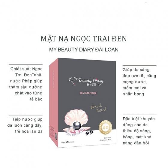 Hộp mặt nạ ngọc trai đen My Beauty Diary black pearl mask
