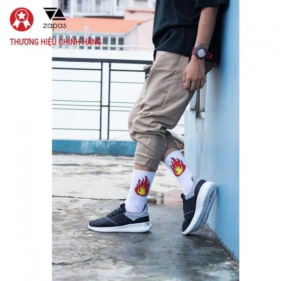 Giày nam, giày thể thao sneaker Zapas năng động cá tính siêu nhẹ thoáng khí - ZR009 (màu xám)