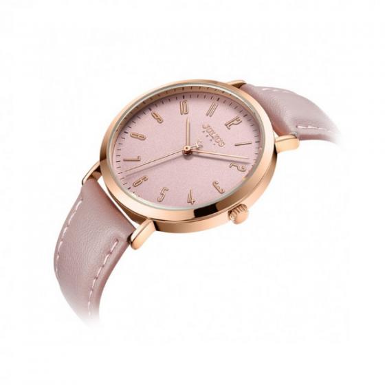 Đồng hồ nữ Julius Hàn Quốc dây da cá tính JA-1017D ( hồng)