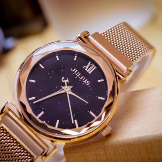 Đồng hồ nữ dây khóa nam châm chính hãng Julius Hàn Quốc JA-1172B (Đồng)