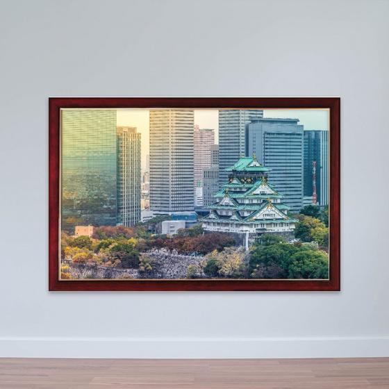 """Tranh chủ đề Nhật Bản """"Thành Cổ Osaka"""" tranh treo phòng họp W3147"""