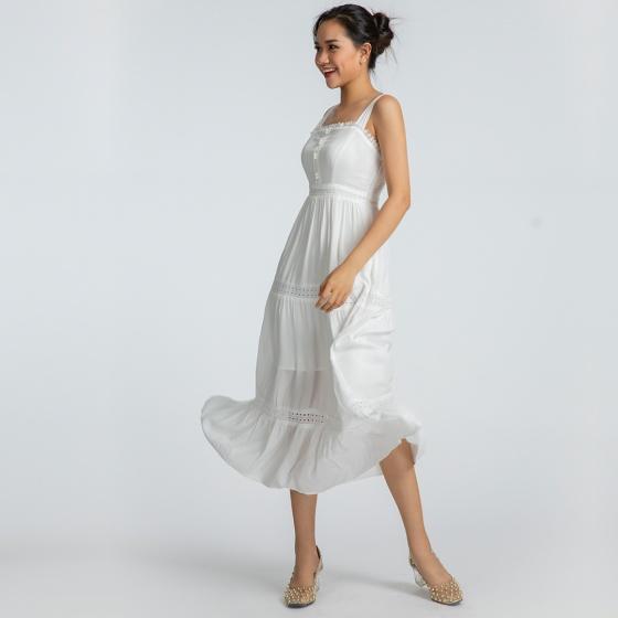 Đầm maxi Hity DRE092 (trắng kim cương)