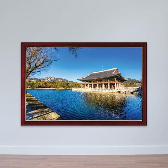 Tranh chủ đề Hàn Quốc kiến trúc cung đình độc đáo tranh treo phòng họp W3181