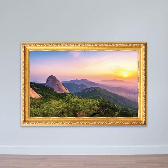 """chủ đề Hàn Quốc """"Bình minh tại vườn quốc gia Bukhansan"""" tranh treo phòng họp W3180"""