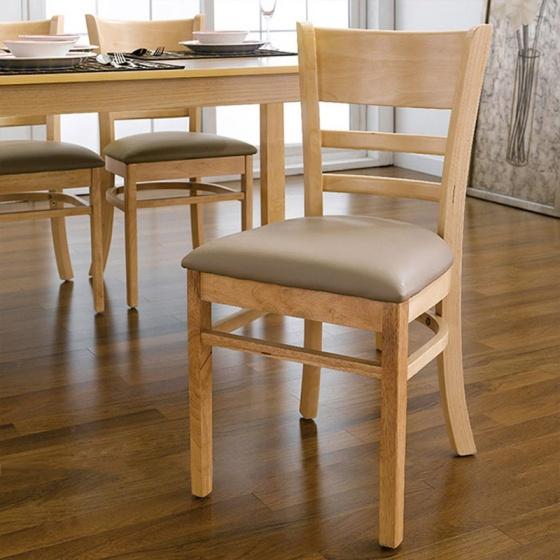 Bộ bàn ăn 4 ghế Cabin gỗ cao su 1m2 (màu tự nhiên) - Cozino