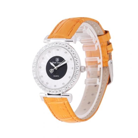 Đồng hồ nữ chính hãng Royal Crown 4611 dây da cam