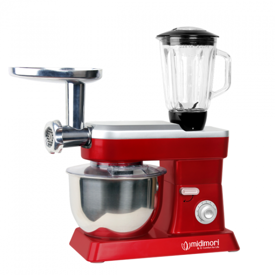 Máy làm bếp đa năng gia đình Midimori kitchen machine, MDMR - 9818 (1200W) - Đỏ