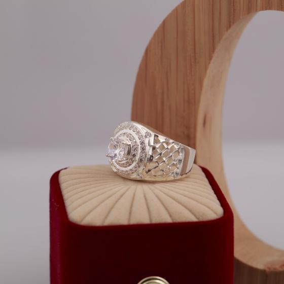 Opal - Nhẫn bạc nam cao cấp sang trọng_T6