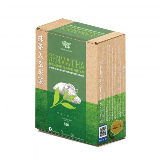 Genmaicha – bột matcha gạo rang nhật bản cao cấp onelife – hộp 50gr