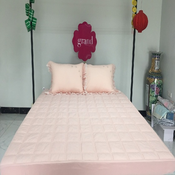 Ga chun trần 100% cotton Grand - 150 x 190 - Hồng