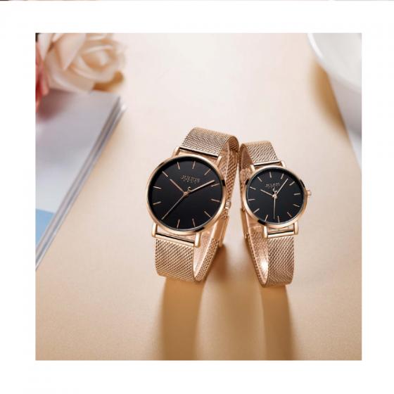 Đồng hồ nam dây kim loại chính hãng Julius Hàn Quốc JA-1164MD (đồng đen)