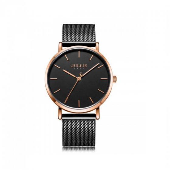 Đồng hồ nam dây kim loại chính hãng Julius Hàn Quốc JA-1164ME (đen)