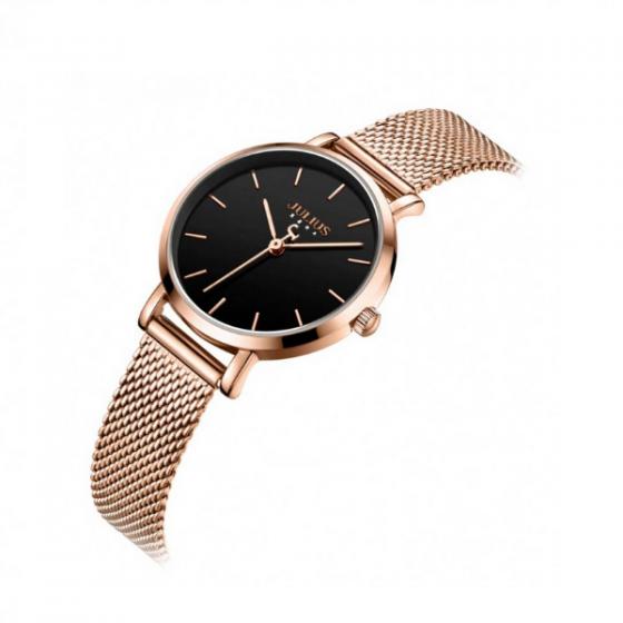 Đồng hồ nữ dây kim loại chính hãng Julius Hàn Quốc JA-1164LD (đồng đen)