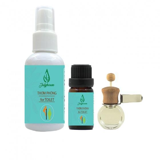 Bộ bình xịt khử mùi 50ml và tinh dầu cho toilet 10ml tặng 1 vỏ khuếch tán tinh dầu