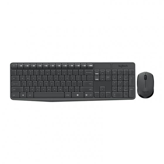 Bộ bàn phím và chuột không dây Logitech Wireless MK235 (Đen)