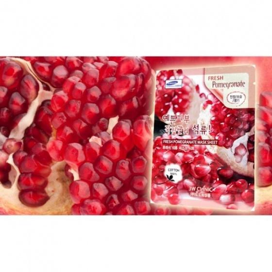Bộ 5 mặt nạ giấy quả lựu 3W Clinic Fresh Pomegranate 23ml