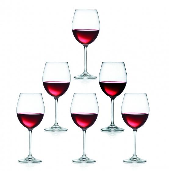 Bộ 6 ly rượu vang đỏ pha lê RCR Invino 650ml (sản xuất tại Ý)