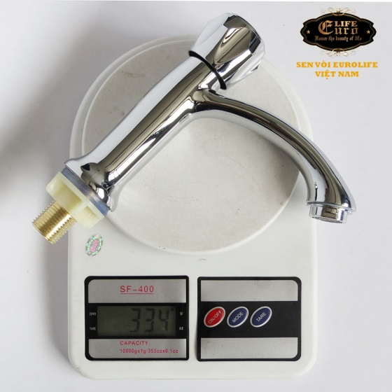 Vòi lavabo lạnh Eurolife EL-LL100 (Trắng bạc)