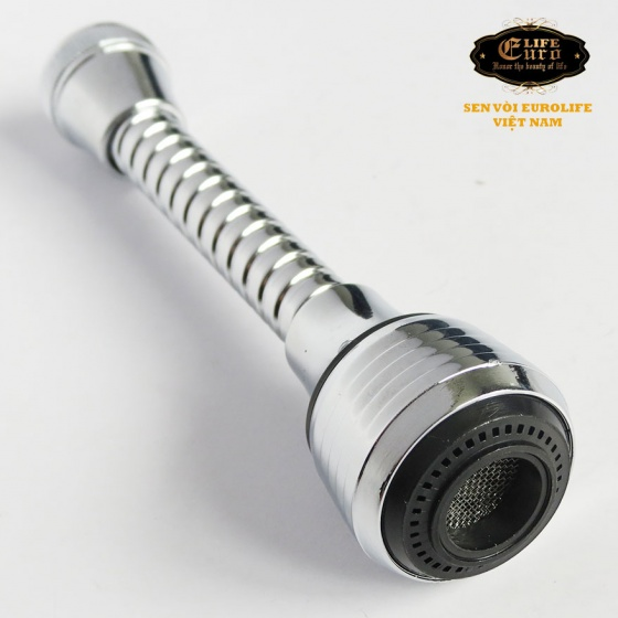 Đầu vòi tăng áp cần lò xo Inox Eurolife EL-VM02 (Trắng bạc)