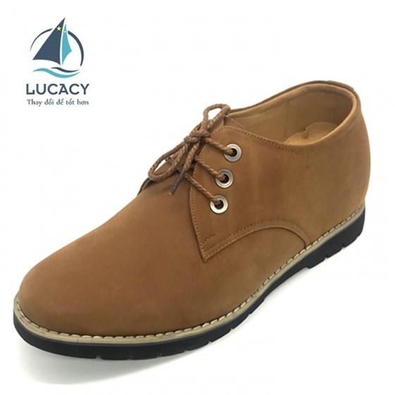 Giày đốc nam tăng chiều cao 6cm da bò cao cấp N0123BV Lucacy