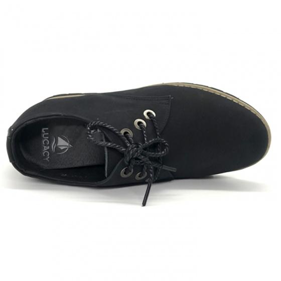 Giày đốc nam tăng chiều cao 6cm da nubuck cao cấp N0123BD Lucacy