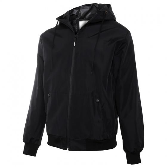 Áo khoác dù nam chống tia UV, chống nước có nón AKD23 PigoFashion màu đen