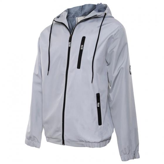 Áo khoác dù nam chống tia UV, chống nước có nón AKD28 PigoFashion màu xám