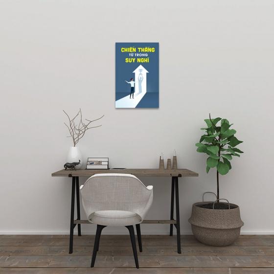 """Tranh canvas ý nghĩa """"Chiến thắng từ trong suy nghĩ"""" - tranh văn phòng W3365"""