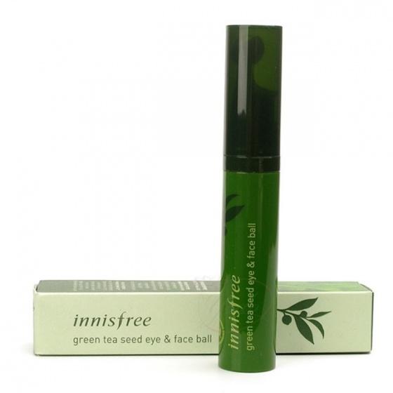 Tinh chất dưỡng mắt & mặt dạng đầu lăn massage từ trà xanh Innisfree Green Tea Seed Eye & Face Ball
