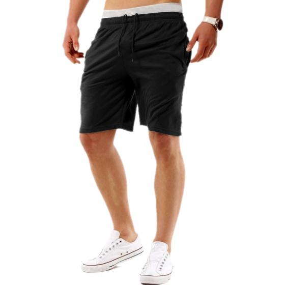 Quần short thể thao nam cotton thoáng mát Pigofashion cao cấp QN01 màu đen