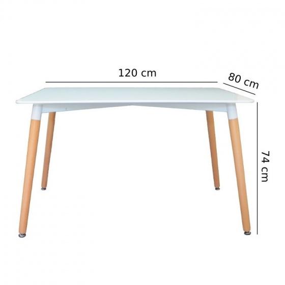 Bộ bàn ghế ăn tối giản kiểu Bắc Âu - màu gỗ tự nhiên
