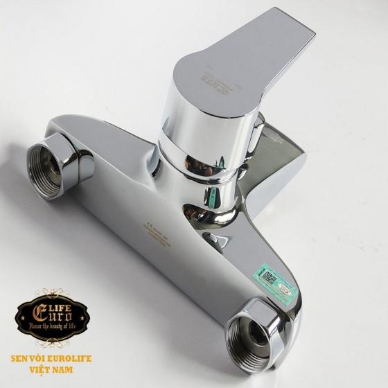 Bộ vòi sen nóng lạnh đồng mạ ChromeEurolife EL-AZA01 (Trắng bạc)