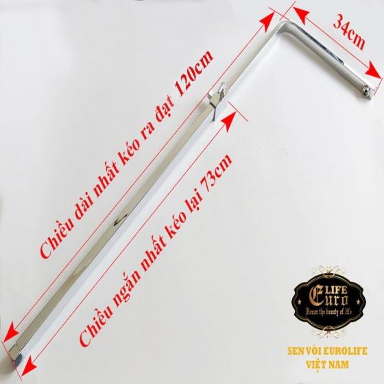 Bộ sen tắm đứng đồng mạ Chrome Eurolife EL-SC910