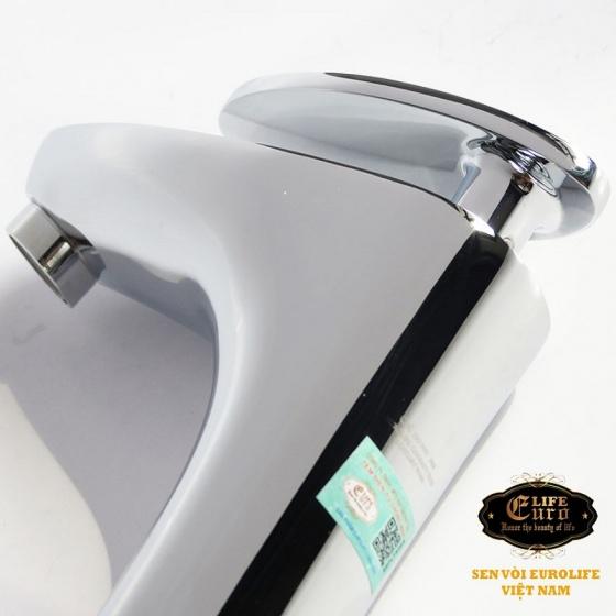 Vòi lavabo nóng lạnh đồng mạ chrome Eurolife EL-CAM02 (Trắng bạc)