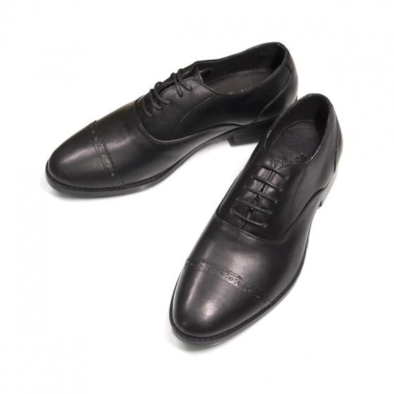 Giày nam buộc dây da thật - Hàng cao cấp đế phíp Geleli