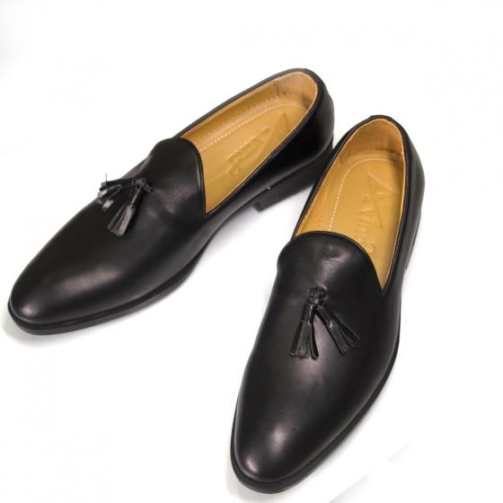 Giày nam lười da thật - Giày tây nam Geleli